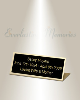 Virgo Easel Engraved Plate