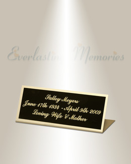 Volans Easel Engraved Plate