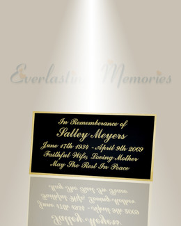 Large Epsilon Engraved Plate