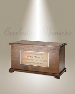 Walnut Destiny Cremation Urn