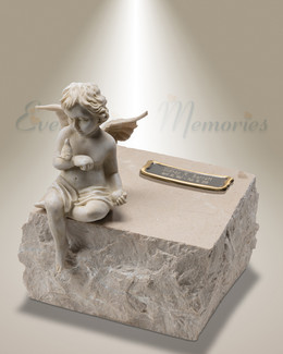 Cream Angels Among Us Cremation Urn
