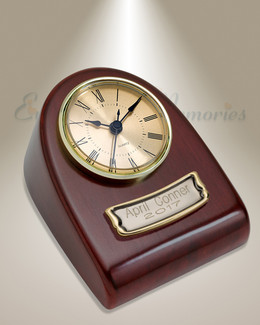 Burgundy Clock Cremation Urn