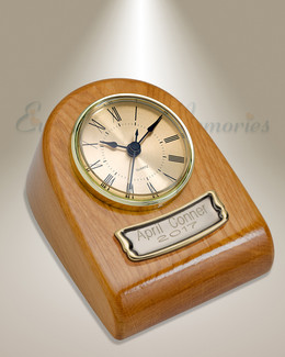 Rustic Clock Cremation Urn