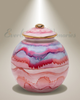 Small Pink Sands Cremation Urn