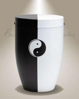 Restful Black Cremation Urn