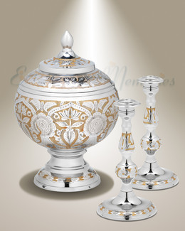 Gold and Silver Virtue Cremation Urn