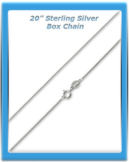 Sterling Silver Box Chain - 20""