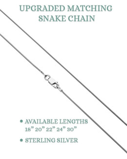 "22"" Premium Sterling Silver Snake Chain"