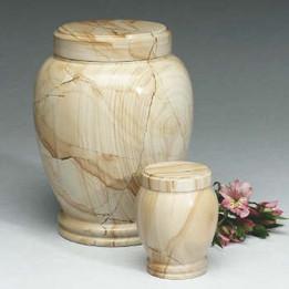 Teakwood Marble Urn