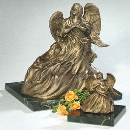 Upward Angel Bronze Cremation Urn