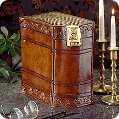 Antique Book Cremation Urn