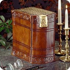 Antique Book Cremation Urn