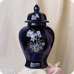 Lagoon Blue Iris Cremation Urn