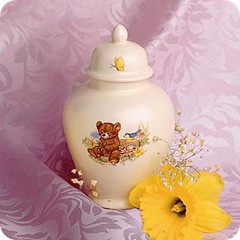 Ceramic Cub Meadow Cremation Urn