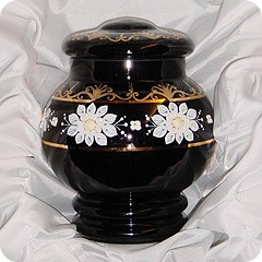 Bohemica Glass Cremation Urn
