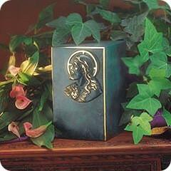 Artisan and Jesus Bronze Cremation Urn