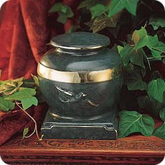 Eternal & Green Patina Urn