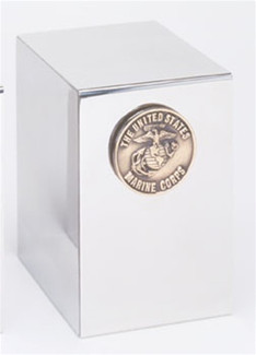 Stainless Steel Marine Corps Urn