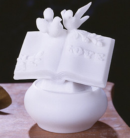 Bible White Marble Keepsake Urn