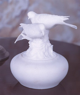 Sleeping Doves Keepsake Marble Urn