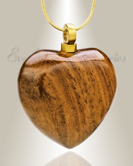 Forever Collection Wooden Heart w/ Gold Keepsake Jewelry