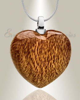 Forever Collection Light Wooden Heart Keepsake Jewelry