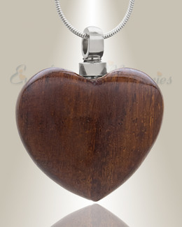 Forever Collection Wooden Heart Keepsake Jewelry