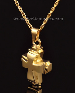 14K Gold Classic Cross Funeral Jewelry