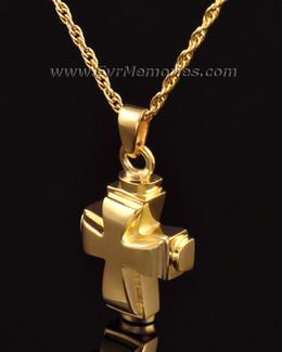 14K Gold Classic Cross Funeral Jewelry