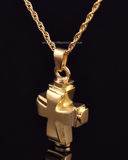 14K Gold Plated Classic Cross Funeral Jewelry