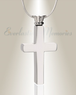 Forever Collection Silver Remembrance Cross Locket Necklace