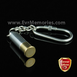 Forever Collection Shotgun Shell Keychain Memorial Urn Jewelry