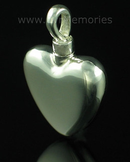 Sterling Silver Small Heart Urn Keepsake