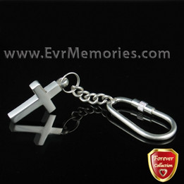 Forever Collection Remembrance Cross Keychain Jewelry Urn