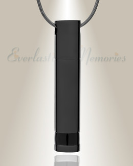 Forever Collection Black Plated Hero Cremation Necklace