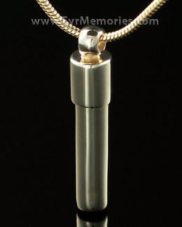14K Gold Cylinder Urn Keepsake