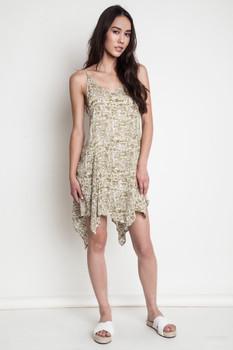 A1259 UMGEE Bohemian Cowgirl Printed Tank Dress Sage