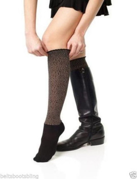 Bootights - Tabu Cheetah Darby - Chocolate Knee High Socks