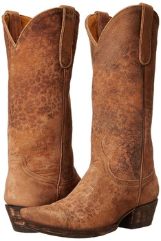 """L 168-1-SS OLD GRINGO LEOPARDITO OCHRE 13"""" LEATHER COWGIRL BOOTS"""