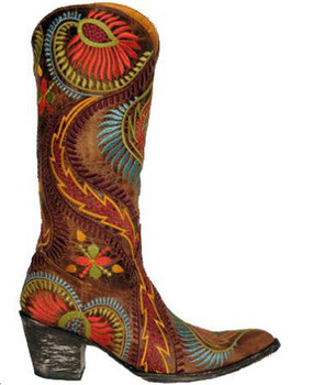 L1371-6-SS OLD GRINGO TIEGAN MULTI COLOR LEATHER BOOTS