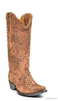 L 888-12-SS Old Gringo Ladies Celeste Ochre Swarvoski Crystal Boots
