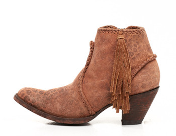 BL1116-13 Old Gringo 'Adela' Ochre Leopardito Leather Ankle Boot