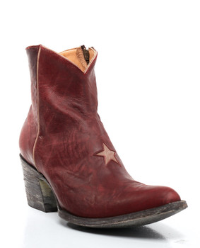 BL0958-24-SS Old Gringo Vesuvio Red Star Leather Ankle Boots
