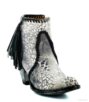 BL1116-17-SS Old Gringo 'Adela' Grey Black Leopardito Leather Ankle Boot