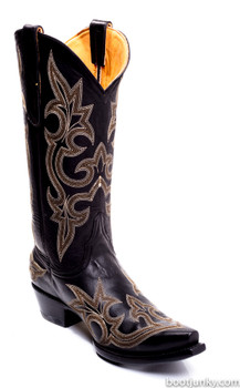 """L 113-37-SS OLD GRINGO DIEGO 13"""" BLACK COWGIRL BOOTS"""