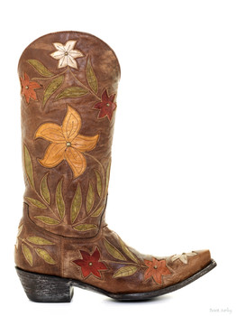 """L1114-1 OLD GRINGO GINGER 13"""" BRASS STUDDED COWGIRL BOOTS"""