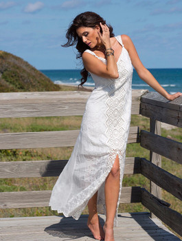 02. Bronte Collection Brooklyn White  Lace Boho Dress