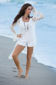 18. Bronte Collection Sundance Duster in White