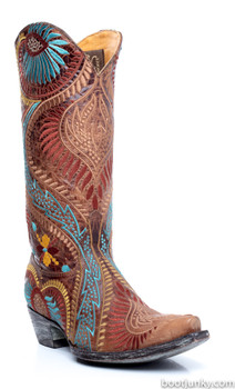 L1371-1-SS OLD GRINGO TIEGAN MULTI COLOR LEATHER BOOTS