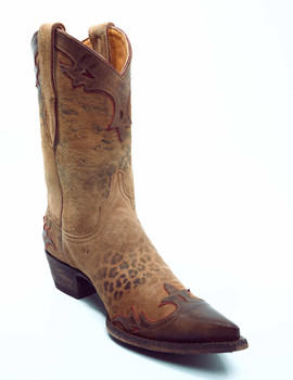 L 060-62-SS Old Gringo Villa Rust Leopardito Cowgirl Boots